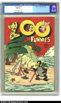 Golden Age (1938-1955):Funny Animal, Zoo Funnies #2 (Children's Comics Publications, 1945) CGC NM 9.4Cream to off-white pages. Funny animal comics. Great scarce...
