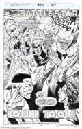 Original Comic Art:Splash Pages, Mark Bagley and Dan Panosian - Original Art for Captain America#374, page 24 (Marvel, 1990). Battlestar gets a surprise vis...