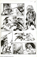 Original Comic Art:Panel Pages, John Buscema and Ernie Chan - Original Art for Conan the Barbarian (Marvel, 1977). Conan and a tribal cheiftan match sword a...