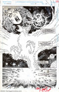 Original Comic Art:Splash Pages, Ron Randall and Art Nichols - Original Art for What If? #60, page 28 (Marvel, 1994). Spectacular 2/3 splash page as the Phoe...