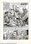 "Original Comic Art:Complete Story, Rudy Palais - Original Art for Witches Tales #15, Complete 5-page Story, ""Art for Death's Sake"" (Harvey, 1952). Striving to ..."