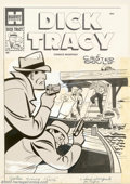 Original Comic Art:Covers, Unknown Artist - Original Cover Art for Dick Tracy Comics Monthly#83 (Harvey, 1950s). The foreground figures of Tracy and S...