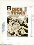 Original Comic Art:Covers, Unknown Artist - Original Line Art Cover for Dick Tracy #106(Harvey, 1950s). Here's a real oddity: this pen-and-ink cover (...