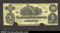 Confederate Notes:1862 Issues, Counterfeit CT46 1862 $10, About Uncirculated, COC. A nice ...
