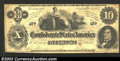 Confederate Notes:1862 Issues, 1862 $10 Ceres Reclining on Cotton Bales; R.M.T. Hunter on ...