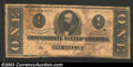 Confederate Notes:1862 Issues, 1862 $1 Clement C. Clay, T-55, Very Good. Some minor water ...
