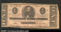 Confederate Notes:1863 Issues, 1863 $1 Clement C. Clay, T-62, Extremely Fine. The margins are ...