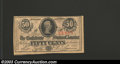 Confederate Notes:1863 Issues, 1863 50 Cents Bust of Jefferson Davis, T-63, Crisp ...