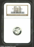 Proof Roosevelt Dimes: , 1961 PR 69 Cameo NGC. ...