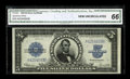 Large Size:Silver Certificates, Fr. 282 $5 1923 Silver Certificate CGA Gem Uncirculated 66. This note, which is new to the census, comes from a small run of...