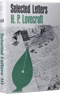 Books:First Editions, H.P. Lovecraft: Selected Letters III. (Sauk City: Arkham House, 1971), first edition, 451 pages, black cloth with gilt l...