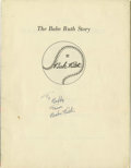"Autographs:Others, 1948 Babe Ruth Signed Book. Bob Considine's famous biography, ""TheBabe Ruth Story,"" debuted just weeks before the Bambino ..."