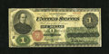 Fr. 16 $1 1862 Legal Tender Good-Very Good. Numerous repairs are noticed on this still colorful, early Red Seal