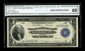 Fr. 737 $1 1918 Federal Reserve Bank Note CGA Gem Uncirculated 66. This $1 has strong embossing