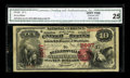 National Bank Notes:Pennsylvania, Sellersville, PA - $10 1875 Fr. 420 The Sellersville NB Ch. # 2667.The paper quality exhibited here is pleasing allowin...