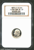 Proof Roosevelt Dimes: , 1981-S Type Two PR 69 Deep Cameo NGC. ...