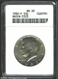 Kennedy Half Dollars: , 1982-P MS65 ANACS. ...
