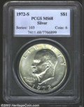 Eisenhower Dollars: , 1972-S Silver MS68 PCGS. ...