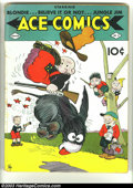 Golden Age (1938-1955):Cartoon Character, Ace Comics #11 (David McKay Publications, 1938) Condition: GD+.Blondie, the Katzenjammer Kids, Jungle Jim, Ripley's Believe...