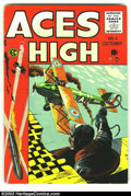 Golden Age (1938-1955):Adventure, Aces High #4 (EC, 1955) Condition: VG/FN. Fantastic George Evans cover. Overstreet 2003 VG 4.0 value = $20; FN 6.0 value = $...