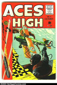 Aces High #4 (EC, 1955) Condition: VG/FN. Fantastic George Evans cover. Overstreet 2003 VG 4.0 value = $20; FN 6.0 value...