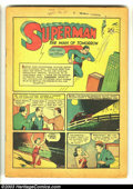 Golden Age (1938-1955):Superhero, Action Comics #18 (DC, 1939) Condition: coverless. Superman rescues a senator from blackmailers; Superman's first use of his...