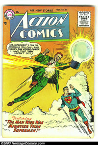 Action Comics #209 (DC, 1955) Condition: FN. Tough issue from the tail end of the Golden Age. Classic images of Superman...