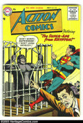 Golden Age (1938-1955):Superhero, Action Comics #218 (DC, 1956) Condition: VG/FN. Tough issue from the tail end of the Golden Age. Classic images of Superman....