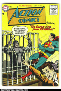 Action Comics #218 (DC, 1956) Condition: VG/FN. Tough issue from the tail end of the Golden Age. Classic images of Super...