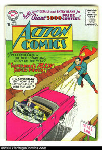 Action Comics #221 (DC, 1956) Condition: FN. Nice copy with off-white pages. First Silver Age issue. Overstreet 2003 FN...