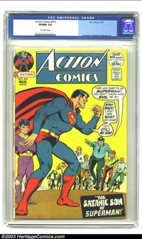 Action Comics #410 (DC, 1972) CGC VF/NM 9.0 Off-white pages. Curt Swan and Murphy Anderson art. Overstreet 2003 VF/NM 9...