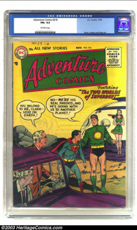 Adventure Comics #218 (DC, 1955) CGC FN+ 6.5 Off-white pages. Features Superboy; Swan, Fradon and Papp art. Overstreet 2...