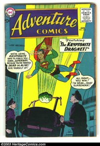 Adventure Comics #256 (DC, 1959) Condition: VG. Origin of Green Arrow by Jack Kirby. Fantastic cover featuring Superboy...