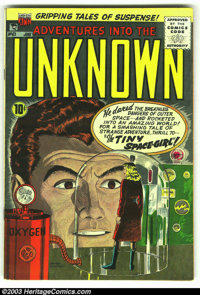 Adventures Into the Unknown Group (ACG, 1955). This lot consists of four issues from 1955-59, including #63 (FN), #81 (F...