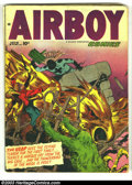 Golden Age (1938-1955):War, Airboy Comics Lot (Hillman Fall, 1948) Condition: average VG. Vol. 9 #2, #4, #6. Overstreet 2003 value for group = $80.... (Total: 3 Comic Books Item)