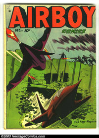 Airboy Comics Lot (Hillman Fall, 1948) Condition: average VG. Vol. 8 #1-3, #5, #6, #11. Overstreet 2003 value for group...