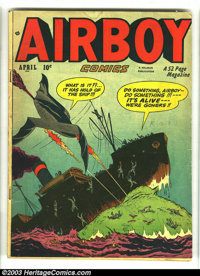 Airboy Comics Lot (Hillman Fall, 1948) Condition: average VG. Vol. 7 #3, #4, #11, #12. Overstreet 2003 value for group =...