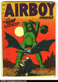 Golden Age (1938-1955):War, Airboy Comics Lot (Hillman Fall, 1948) Condition: average VG-. Vol. 10 #3, Vol. 9 #5, 10 & 11. Overstreet 2003 value for gro... (Total: 4 Comic Books Item)