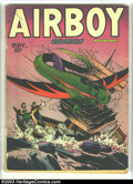 Golden Age (1938-1955):War, Airboy Comics Lot (Hillman Fall, 1948) Condition: average VG-. Vol. 5 #4 and #8-10. Overstreet 2003 value for group = $120.... (Total: 4 Comic Books Item)