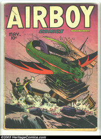 Airboy Comics Lot (Hillman Fall, 1948) Condition: average VG-. Vol. 5 #4 and #8-10. Overstreet 2003 value for group = $1...