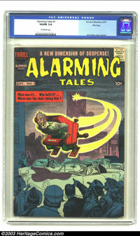 Alarming Tales #1 File Copy (Harvey) CGC VG/FN 5.0 Off-white pages. Jack Kirby cover and art. Overstreet 2003 VG 4.0 val...