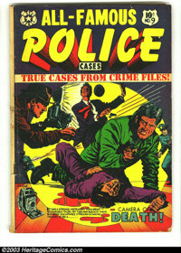 All-Famous Police Cases #9 (Star Publications, 1953) Condition: VG. Classic L.B. Cole cover. Overstreet 2003 VG 4.0 valu...