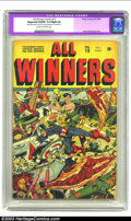 Golden Age (1938-1955):Superhero, All Winners Comics #13 (Timely, 1944) CGC Apparent VG/FN 5.0 Slight (A) Cream to off-white pages. Great Japanese war cover b...