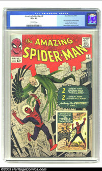 The Amazing Spider-Man #2 (Marvel, 1963) CGC VF+ 8.5 Off-white pages. This is undoubtedly one of the most difficult of t...