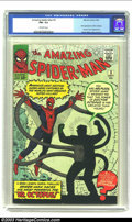 Silver Age (1956-1969):Superhero, Amazing Spider-Man #3 (Marvel, 1963) CGC FN+ 6.5 Off-white pages. First appearance of Doc Octopus. Human Torch appearance. S...