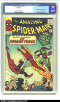 Silver Age (1956-1969):Superhero, Amazing Spider-Man #17 (Marvel, 1964) CGC FN+ 6.5 Cream to off-white pages. Second appearance of the Green Goblin. Human Tor...