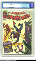 Silver Age (1956-1969):Superhero, Amazing Spider-Man #21 (Marvel, 1965) CGC FN/VF 7.0 Cream to off-white pages. Human Torch appearance and Steve Ditko cover a...