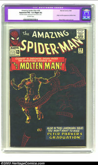 Amazing Spider-Man #28 (Marvel, 1965) CGC Apparent FN+ 6.5 Slight (A) Off-white pages. Origin and first appearance of Mo...