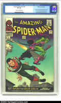 Silver Age (1956-1969):Superhero, Amazing Spider-Man #39 (Marvel, 1966) CGC VF 8.0 Cream to off-white pages. This classic cover is a wonder to behold in high-...