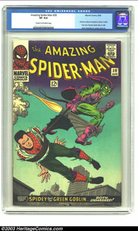 Amazing Spider-Man #39 (Marvel, 1966) CGC VF 8.0 Cream to off-white pages. This classic cover is a wonder to behold in h...